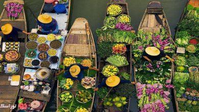 تصویر بازار شناور دمنوین سادواک تایلند