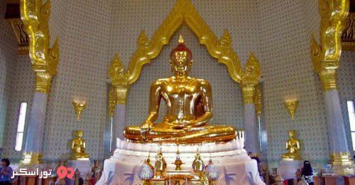 عکس مجسمه طلایی بودا