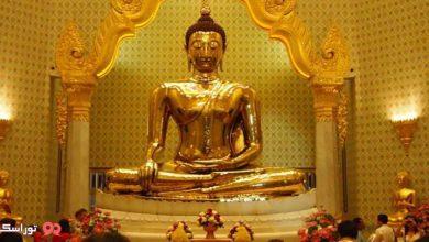 تصویر مجسمه بودای طلایی بانکوک